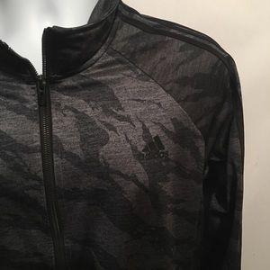 Adidas Gray/Silver And Black Zip up Jacket